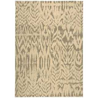 Nourison Nepal Ivory/Grey Rug (7'9 x 10'10)