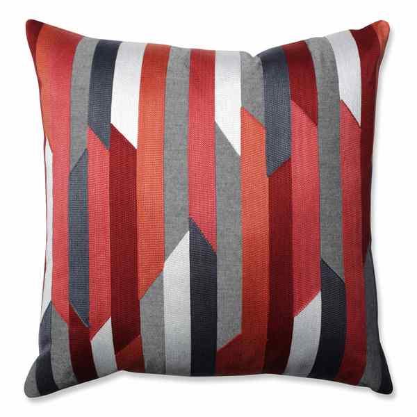 Pillow Perfect Dakota Coral-Grey 18-inch Throw Pillow