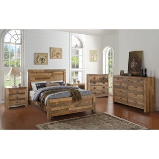 Kosas Home Oscar Handcrafted Natural Recovered Shipping Pallets Bed