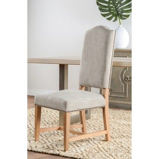 Kosas Home Carlton Taupe Polyester/Linen-upholstered Side Chair