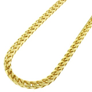 14k Yellow Gold 4.5mm Semi Solid Franco Necklace