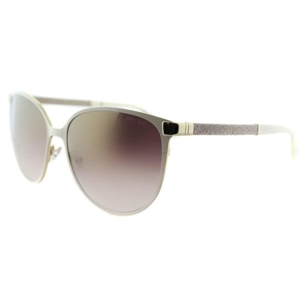 a6866456bad Jimmy Choo JC Posie F8I Ivory Metal Cat-Eye Gold Gradient Mirror Lens  Sunglasses