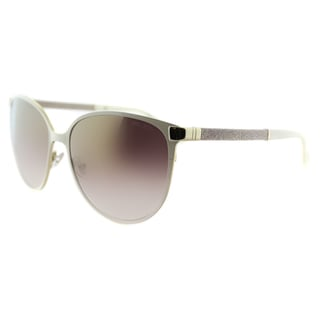 Jimmy Choo JC Posie F8I Ivory Metal Cat-Eye  Gold Gradient Mirror Lens  Sunglasses