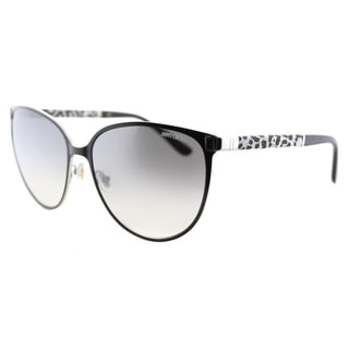 Jimmy Choo JC Posie J9B Matte Black Metal Cat-Eye Silver Gradient Mirror Lens Sunglasses