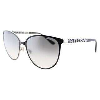Jimmy Choo JC Posie J9B Matte Black Metal Cat-Eye Silver Gradient Mirror Lens Sunglasses