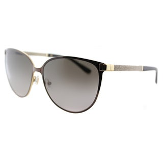 Jimmy Choo JC Posie F8G Brown Metal Cat-Eye Brown Gradient Lens Sunglasses