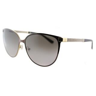 Jimmy Choo JC Posie F8G Brown Metal Cat-Eye Brown Gradient Lens Sunglasses