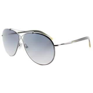 Tom Ford TF 374 15B Eva Pilot Matte Ruthenium Metal Aviator Grey Gradient Lens Sunglasses