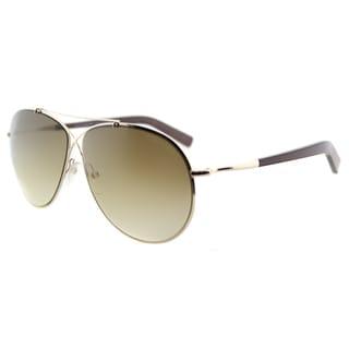 Tom Ford TF 374 28F Eva Pilot Rose Gold Metal Aviator Brown Gradient Lens Sunglasses