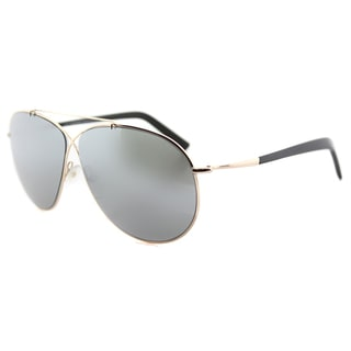 Tom Ford TF 374 28Q Eva Pilot Rose Gold Metal Aviator Green Mirror Lens Sunglasses