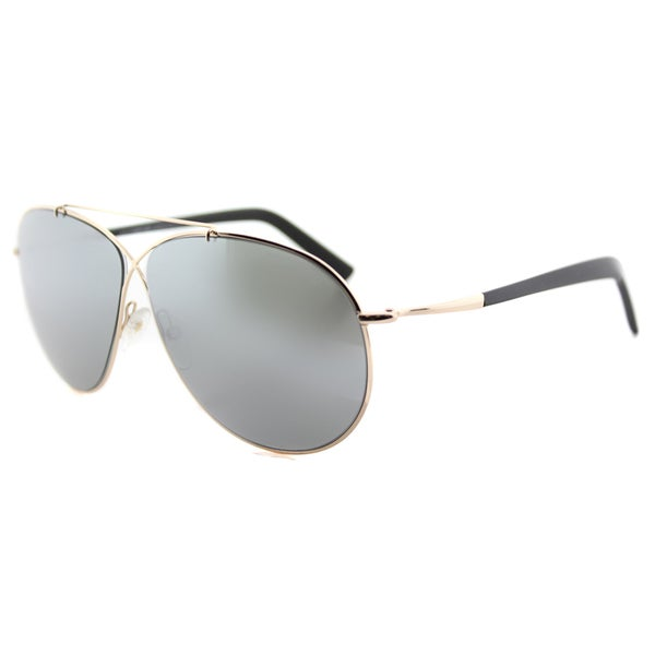 da864227875 Tom Ford TF 374 28Q Eva Pilot Rose Gold Metal Aviator Green Mirror Lens  Sunglasses