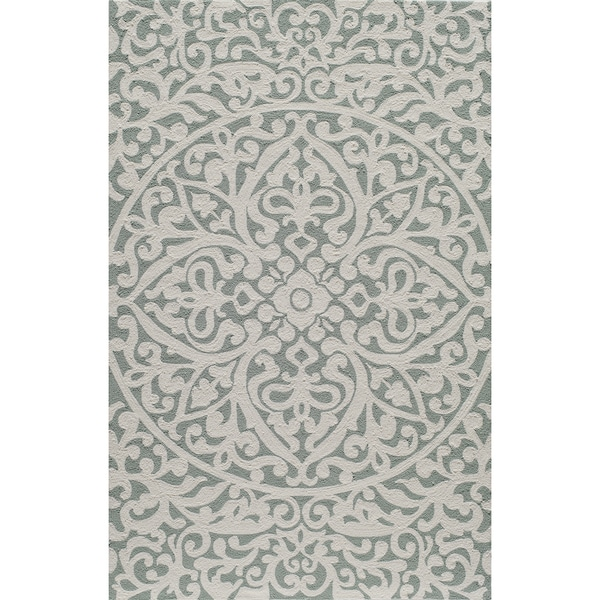 "Momeni Veranda Blue Medallion Scroll Indoor/Outdoor Rug - 3'9"" x 5'9"""