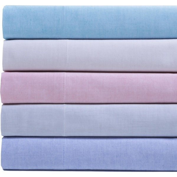 Oxford Chambray 100-percent Cotton Yarn Dyed Sheet Set