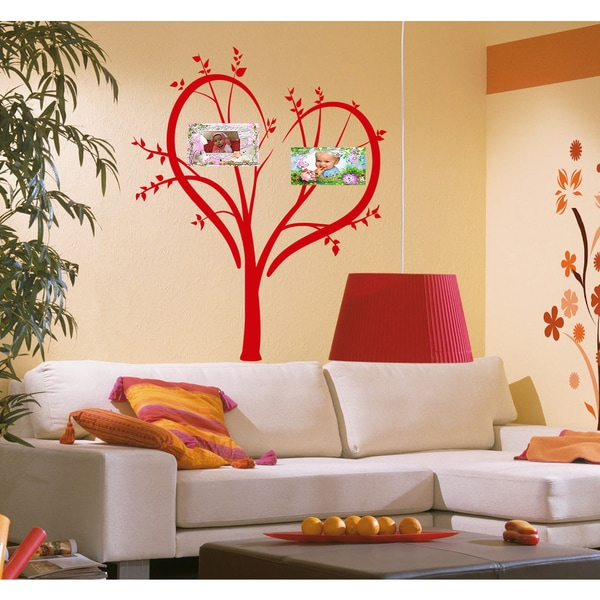 Family Tree Wall Art Sticker Decal Red