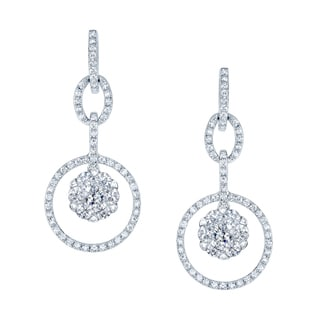 14k White Gold 1ct TDW Diamond Earrings (G-I, VS-SI)
