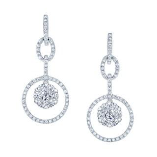 14k White Gold 1ct TDW Diamond Earrings