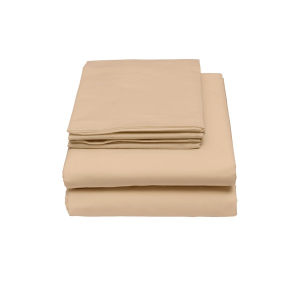 Bamboo Origins Rayon From Bamboo 4-piece Solid Colored Queen-sized Sheet Set