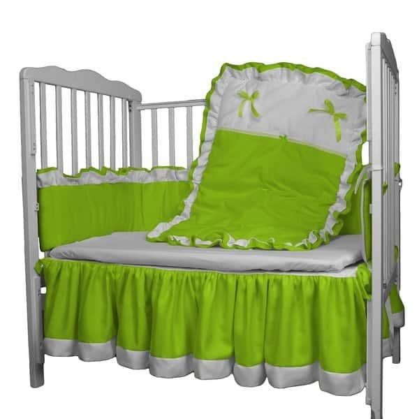BabyDoll Regal Toddler Bedding Set Grey