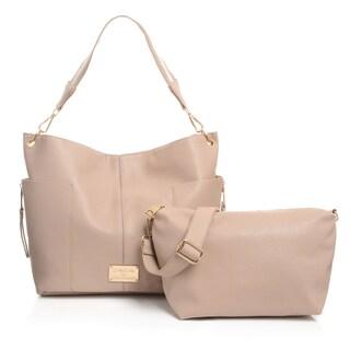 Bebe USA Serena Colorblock Hobo Handbag and Crossbody Bag