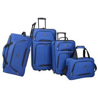 US Traveler Traveler's Choice Vineyard 4-Piece Expandable Rolling Luggage Set