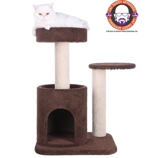 Armarkat 30-inch Double-Perch Carpeted Cat Tree with Cat Condo