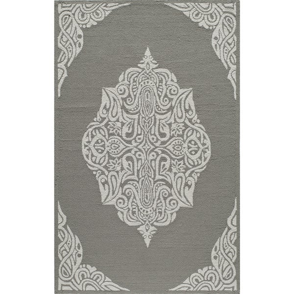 Momeni Veranda Grey Medallion Indoor Outdoor Rug 5 X27 X 8