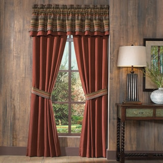 Croscill Horizons Red/ Brown Stripe Pole Top Drapery