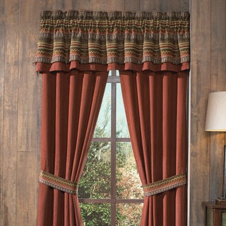 Croscill Horizons Red/ Brown Stripe Valance