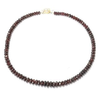 Michael Valitutti Graduated Garnet Beaded Necklace