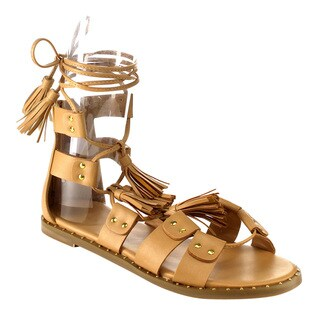 Liliana Women's Faux Leather Gladiator Sandals