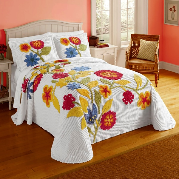 twin chenille bedspread shop primavera cotton ribbed chenille bedspread with 2989