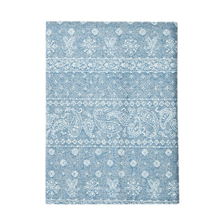 Japanese Chambray Cotton Paisley Pocket Square
