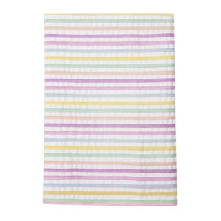 Men's Cotton Seersucker Stripe Pocket Square