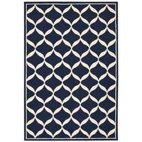Nourison Decor Navy/White Rug
