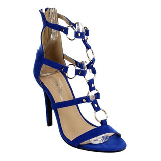 Marilyn Moda Women's EVA Nubuck Faux-leather Strappy Stiletto Sandals