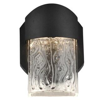 Access Lighting Mist Black LED Outdoor Wall Light