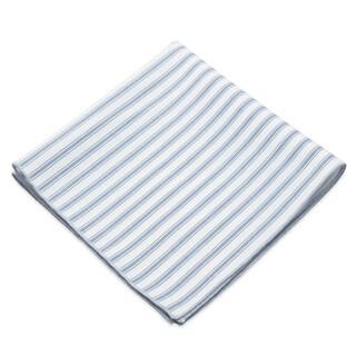 Men's Track Stripe Cotton 13-inch x 13-inch Pocket Square