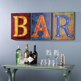 Harper Blvd Hawley LED Bar Signs 3 Piece Set