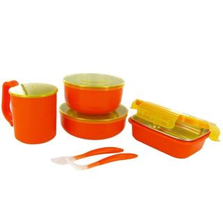 Onbi Baby Meals Orange On-the-go Feeding Set
