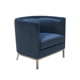 Sunpan Wales Ink Blue Armchair