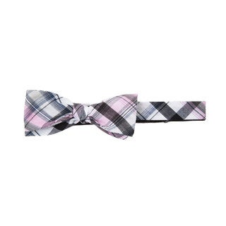 Men's Red and Pink Cotton Picnic Plaid Bowtie