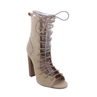 Women's Liliana Faux Suede Gladiator Ankle Sandals