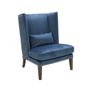 Sunpan Malibu Ink Blue/ Red Pepper Wing Chair