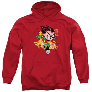 Teen Titans Go/Robin Adult Pull-Over Hoodie in Red