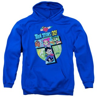 Teen Titans Go/T Adult Pull-Over Hoodie in Royal Blue