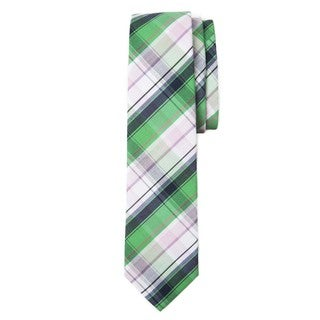 Men's Plaid Collection Cotton Neck Tie