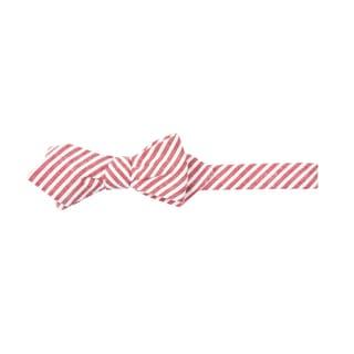 Men's Blue, White, Tan or Red Seersucker Striped Diamond Bow Tie