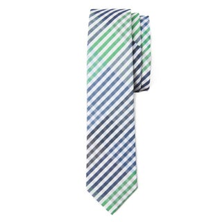 Men's Blue Cotton Plaid Tie