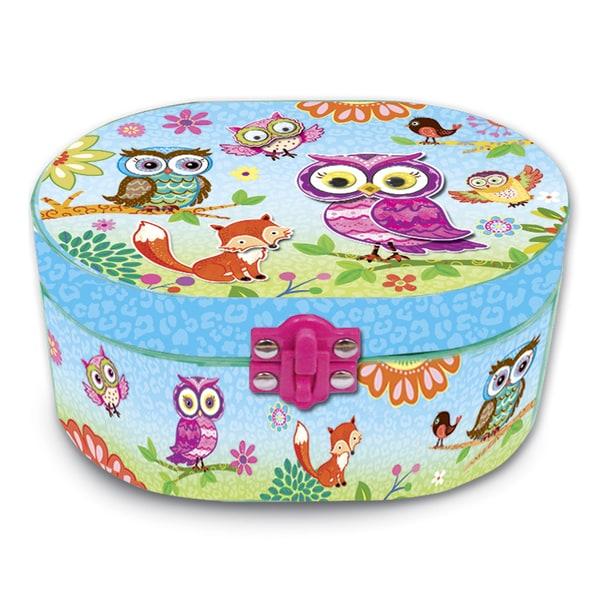 Versil Oval Owl Musical Jewelry Box