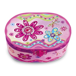 Versil Flower Meadow Oval Musical Jewelry Box
